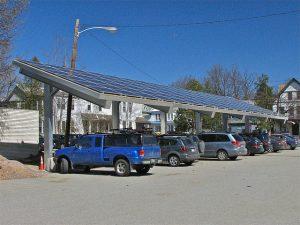Ombrière parking solaire